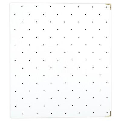 "Sugar Paper Essentials 1"" Ring Binder White with Black Dots"