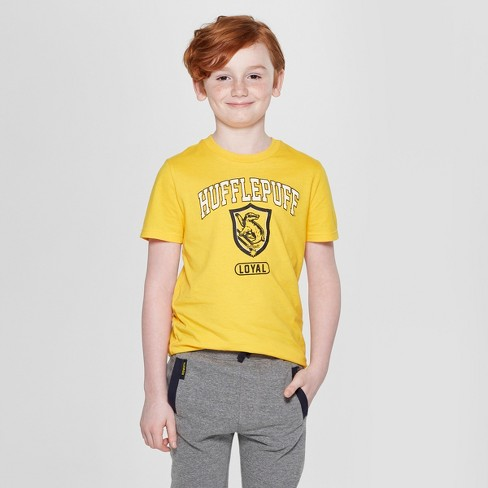 d36e54526 Boys' Harry Potter Hufflepuff Short Sleeve Graphic T-Shirt - Yellow : Target
