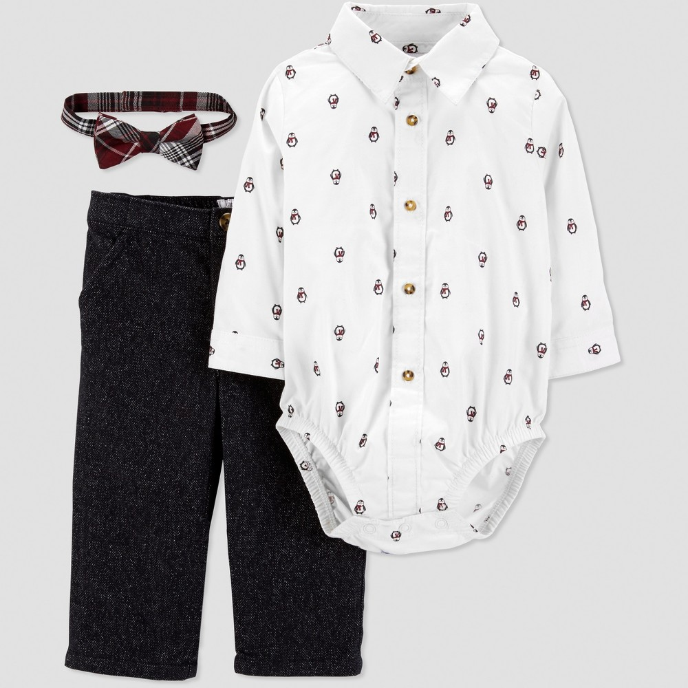 Baby Boys' Penguin Dress Set - Just One You made by carter's White 9M