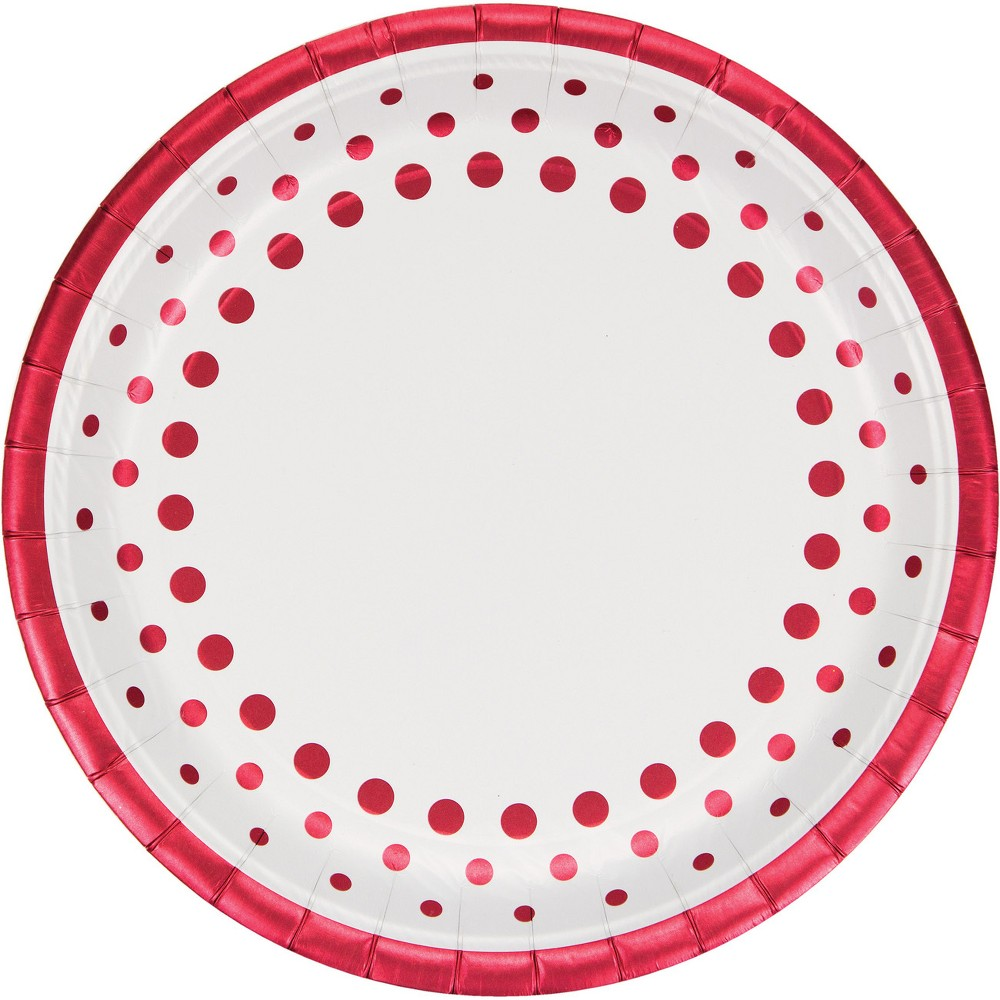 24ct Sparkle and Shine Ruby Banquet Plates Red