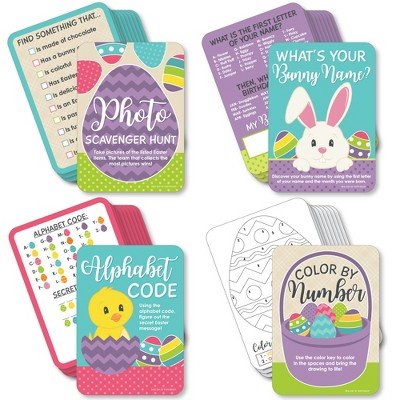 Big Dot of Happiness Hippity Hoppity - 4 Easter Bunny Party Games - 10 Cards Each - Gamerific Bundle