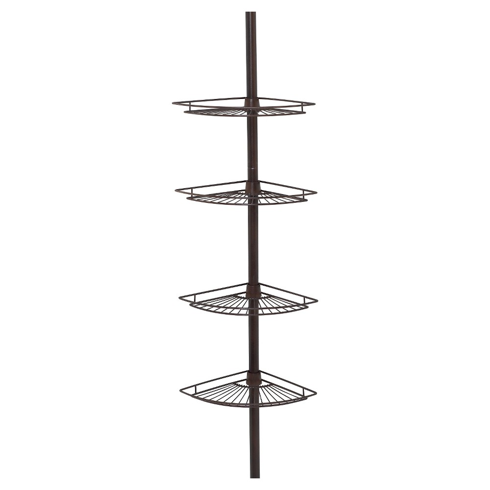 Image of 4 Tier Pole Caddy Heritage Bronze - Zenna Home