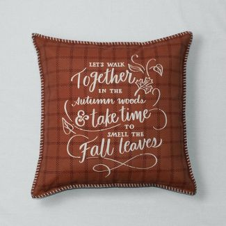 Walk Together Printed Throw Pillow Brown - Threshold™