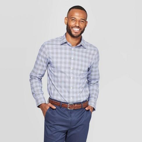 Men's Plaid Standard Fit Long Sleeve Non Iron Dress Shirt - Goodfellow & Co™ - image 1 of 3