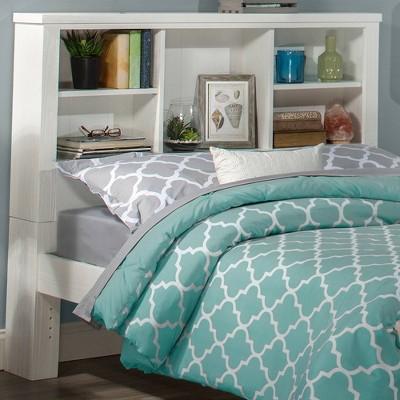 Full Highlands Bookcase Headboard White - Hillsdale Furniture