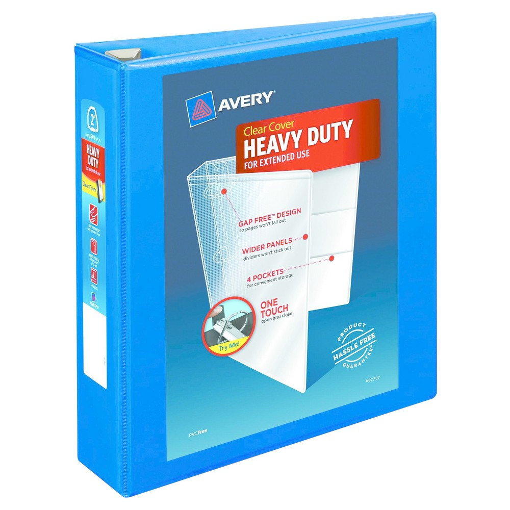 Avery Heavy-Duty View Binder with Locking Ezd Rings, 2 Cap, Pacific Blue