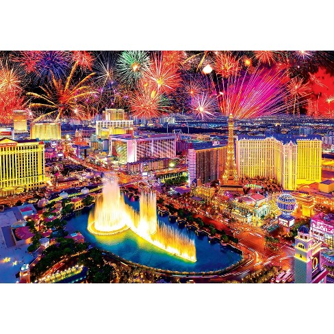 Kodak Fireworks Over Las Vegas Strip Puzzle 1500 - image 1 of 3