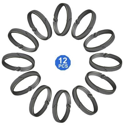 Aluminum Circular Ring Rustproof Shower Hooks Nickel - Popular Bath