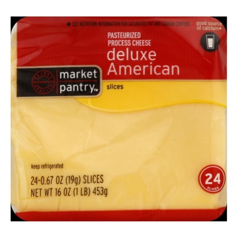 Sliced Deluxe American Cheese - 24ct - Market Pantry™ - image 1 of 1