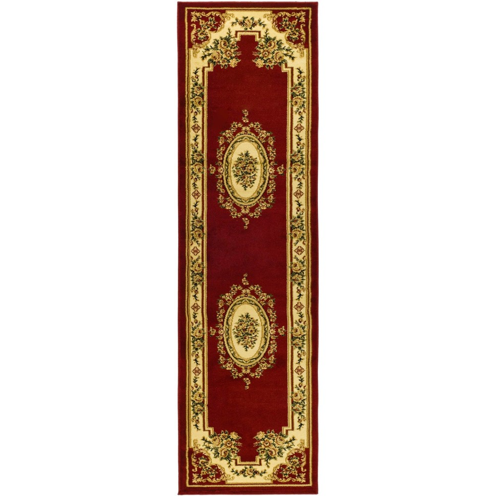2'3X12' Loomed Medallion Runner Rug Red - Safavieh, Red/Ivory