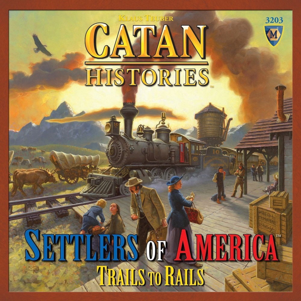 Mayfair Games Catan Histories Settlers of America Trails to Rails Board Game