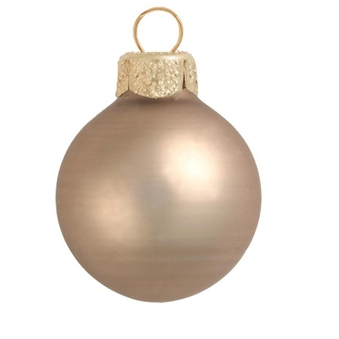 "Northlight 28ct Matte Glass Ball Christmas Ornament Set 2"" - Antique Gold - image 1 of 1"
