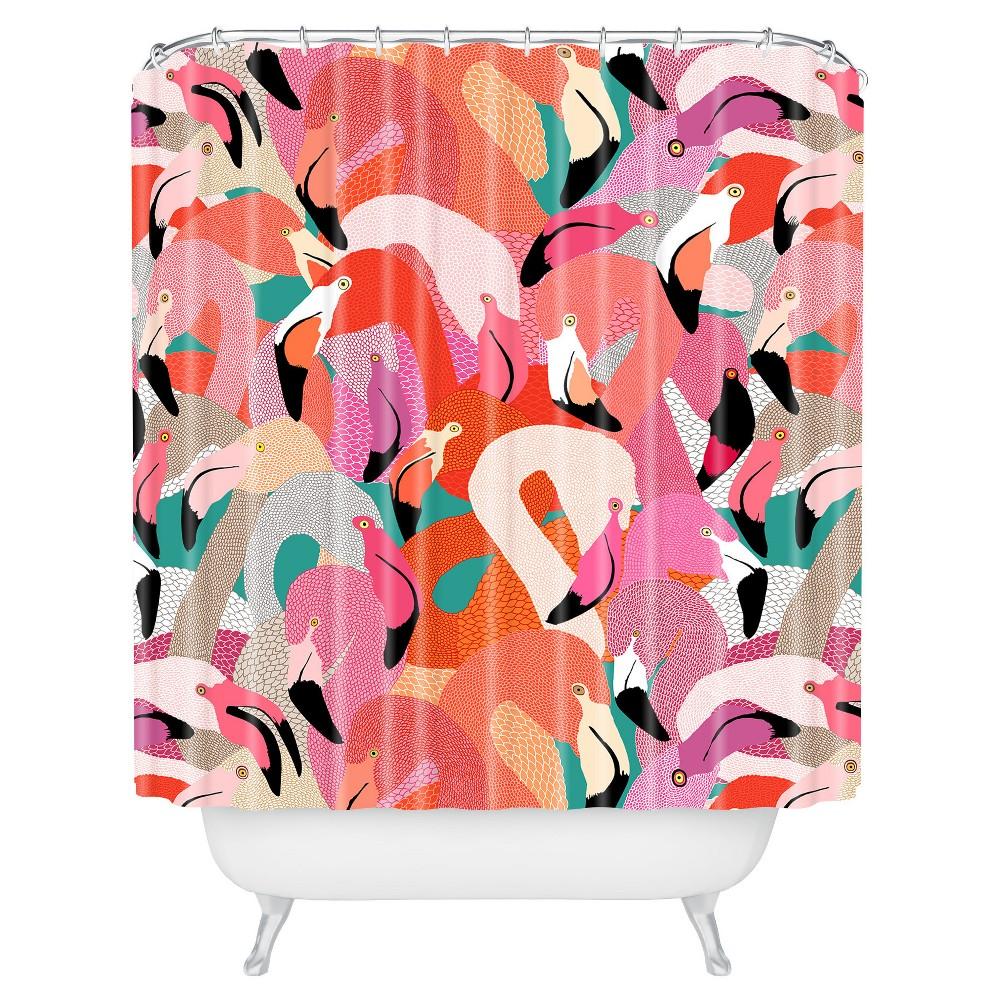 Floral Shower Curtain Pink - Deny Designs