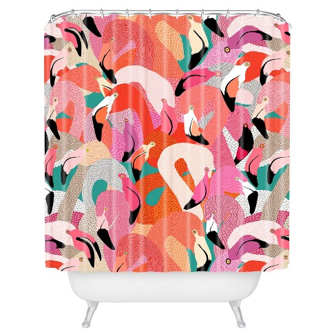 Floral Shower Curtain Pink - Deny Designs® - image 1 of 4
