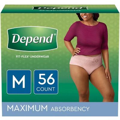 Depend Women's Fit Flex Incontinence Underwear - Tan - M - 56ct