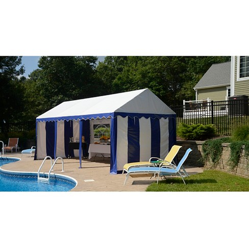 Shelter Logic 10x20 Party Tent and Enclosure Kit - Blue/White - image 1 of 4