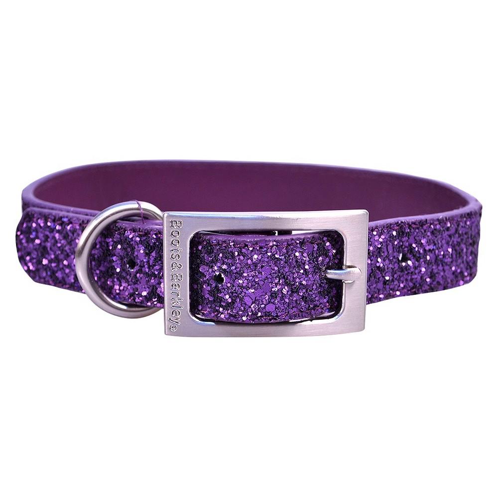 Glitter Dog Collar - M - Purple - Boots & Barkley, Embassy Purple