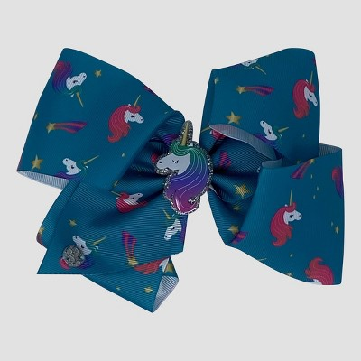 Girls' JoJo Siwa Unicorn Bow Hair Clip - Blue