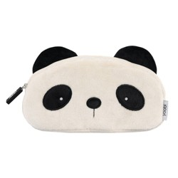Furry Panda Pencil Case Black and White - Yoobi™