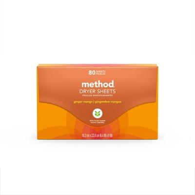 Method Ginger Mango Dryer Sheets - 80ct