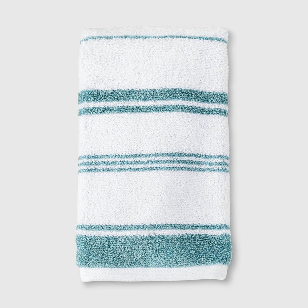 Performance Hand Towel Teal Stripe - Threshold