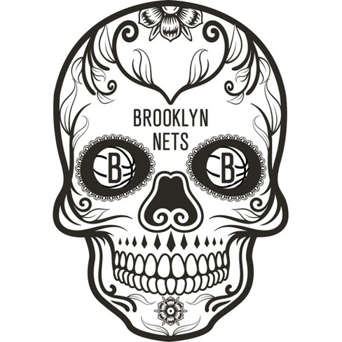 NBA Brooklyn Nets Large Outdoor Skull Decal - image 1 of 1