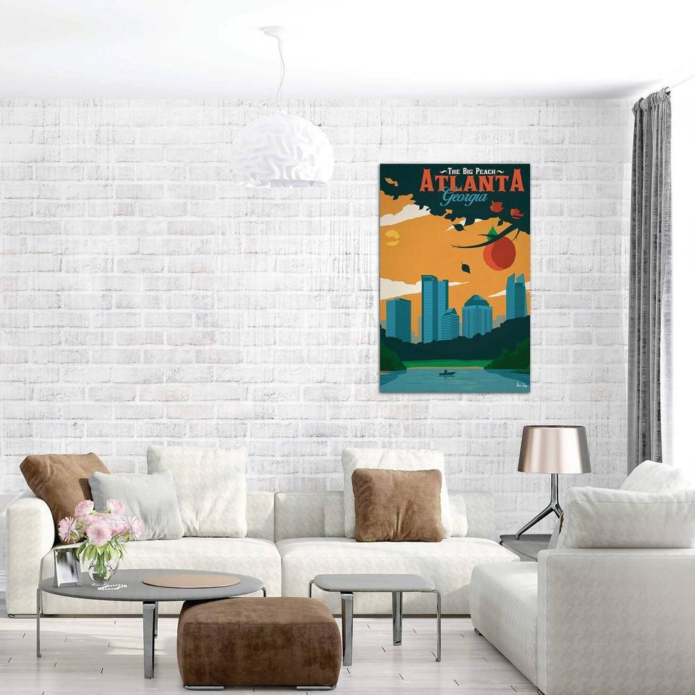 40 34 X 26 34 Atlanta By Ideastorm Studios Unframed Wall Canvas Print Icanvas