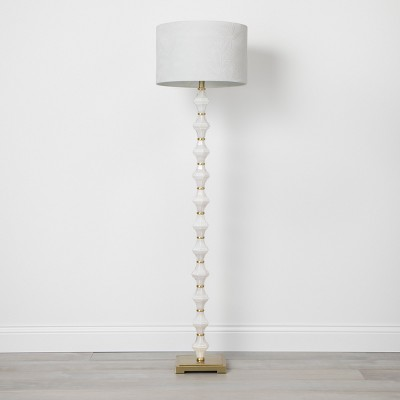 Glass Metal Stack Floor Lamp Cream (Lamp Only)- Opalhouse™