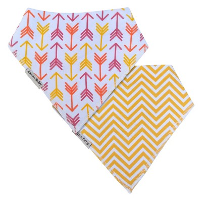 Bazzle Baby Banda Bib Set Bright Arrows & Chevron - 2pk