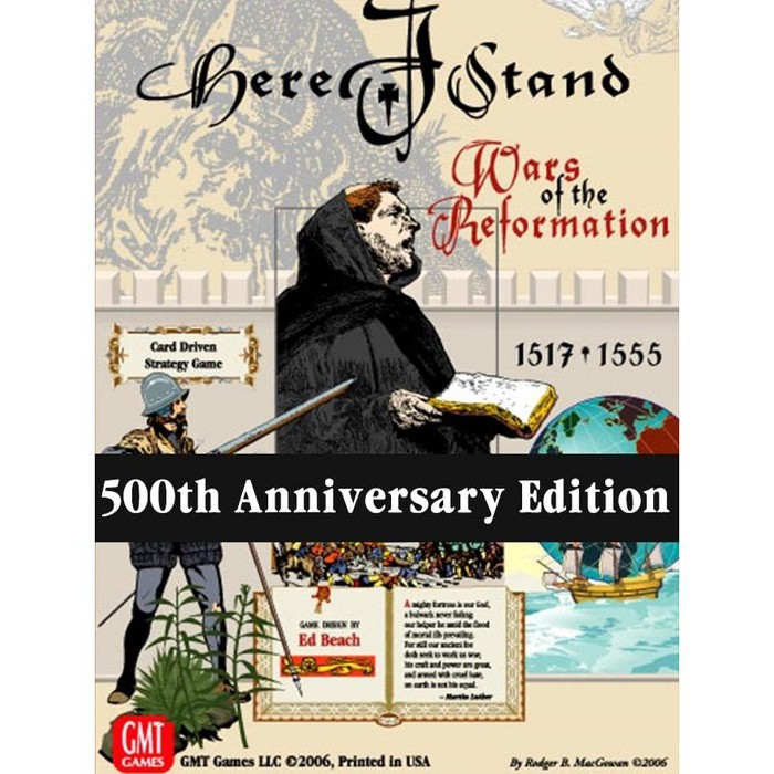 Here I Stand - Wars of the Reformation, 1517-1555 (500th Anniversary Reprint Edition) Board Game - image 1 of 1