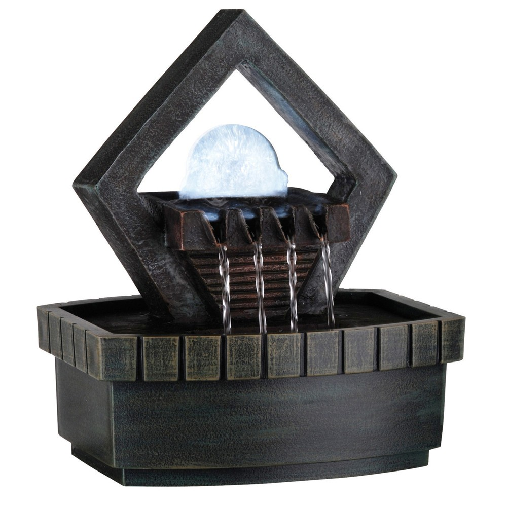 "Image of ""9.5"""" H Resin Outdoor Fountain - Black - Ore International"""