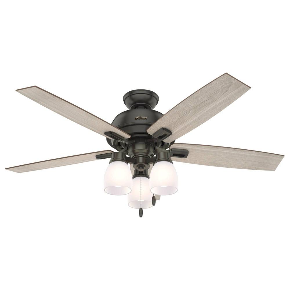 "Image of ""52"""" LED Donegan Ceiling Fan with Light Noble Bronze - Hunter Fan"""