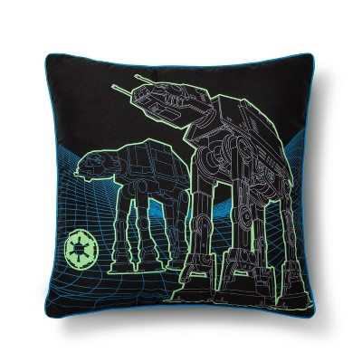 Star Wars Glow-in-the-Dark Square Throw Pillow Black