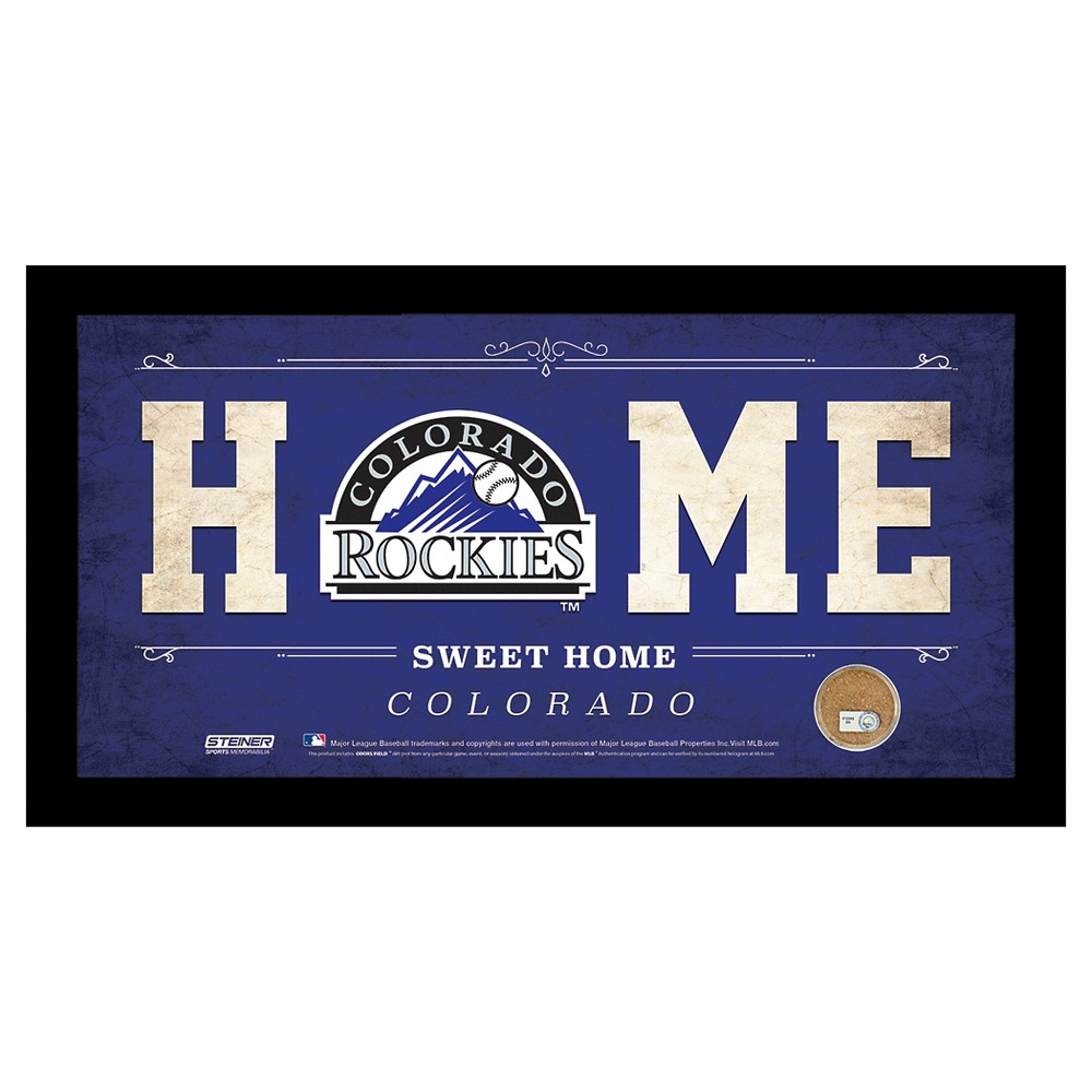 Colorado Rockies Steiner Sports Home Sweet Home Sign - 6x12 inch