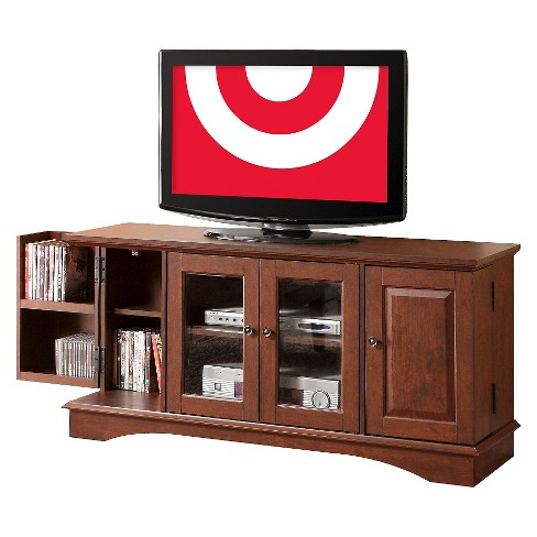 "Wood Storage Console TV Stand for TVs up to 55"" - Saracina Home - image 1 of 4"