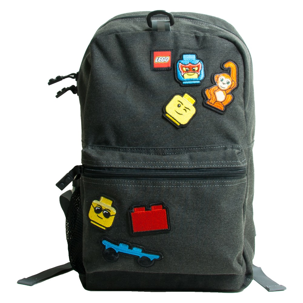 Lego 16 Kids' Backpack with Patch Pack & Pouch - Grey, Gray