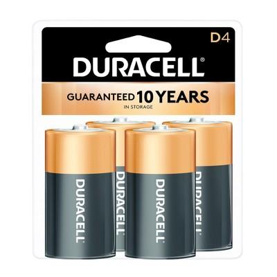 Duracell Copper Top D Alkaline Batteries - 4ct