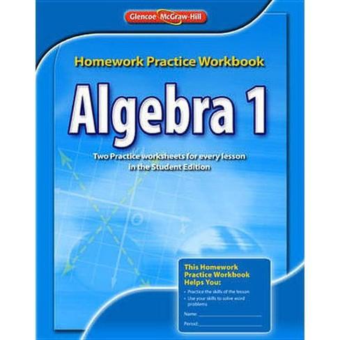 Algebra 1 Homework Practice Workbook - (Paperback) - image 1 of 1