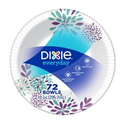 Dixie Everyday Multi Purpose Disposable Bowls - 72ct/10oz