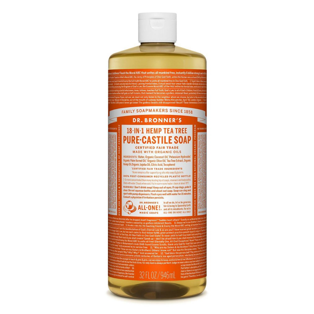 Image of Dr.Bronner's 18-In-1 Hemp Pure-Castile Soap - Tea Tree - 32 fl oz
