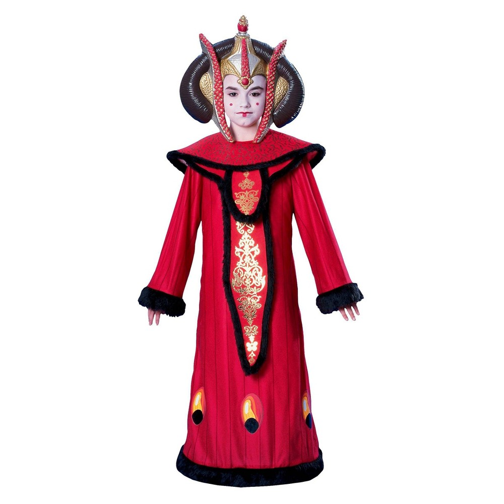 Image of Halloween Star Wars Queen Amidala Girls' Costume Small (4-6), Girl's, Size: Small(4-6), Red Black