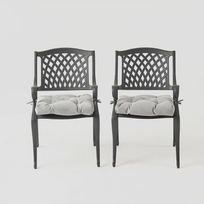 Cayman 2pk Aluminum Dining Chair with Cushion - Christopher Knight Home