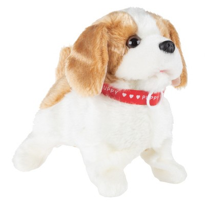 Toy Time Kids' Battery-Operated Interactive Plush Puppy Toy
