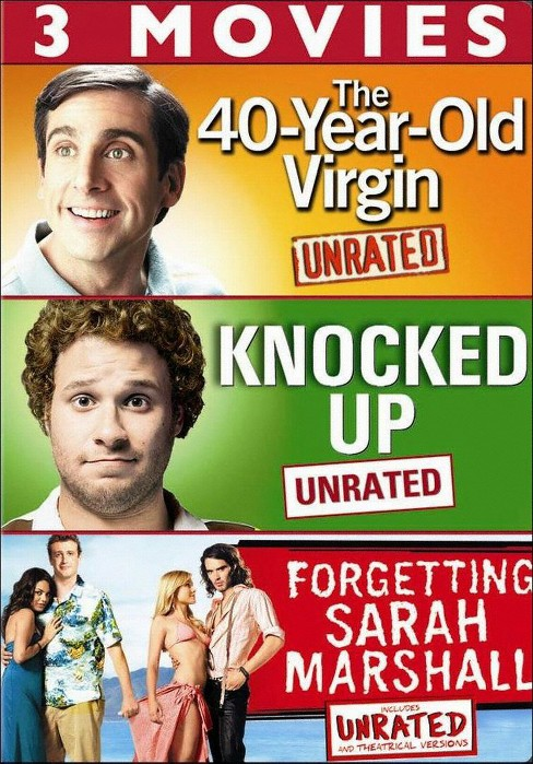 The 40-Year-Old Virgin/Knocked Up/Forgetting Sarah Marshall (3 Discs) (dvd_video) - image 1 of 1