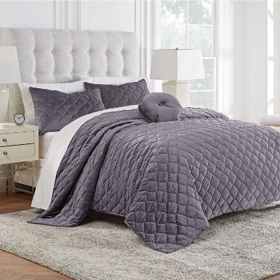 Modern Living Addison Velvet Quilt Set