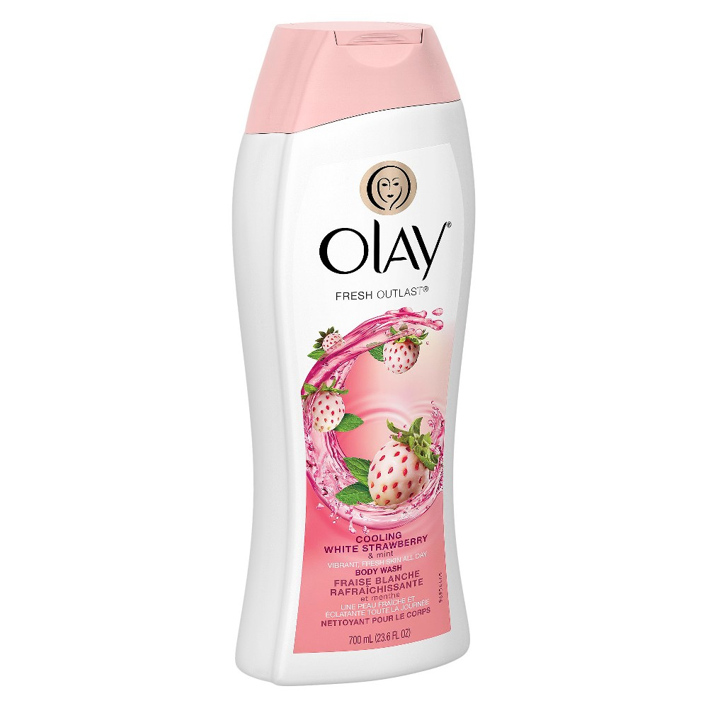 Olay Fresh Outlast Cooling White Strawberry & Mint Body Wash - 23.6 oz