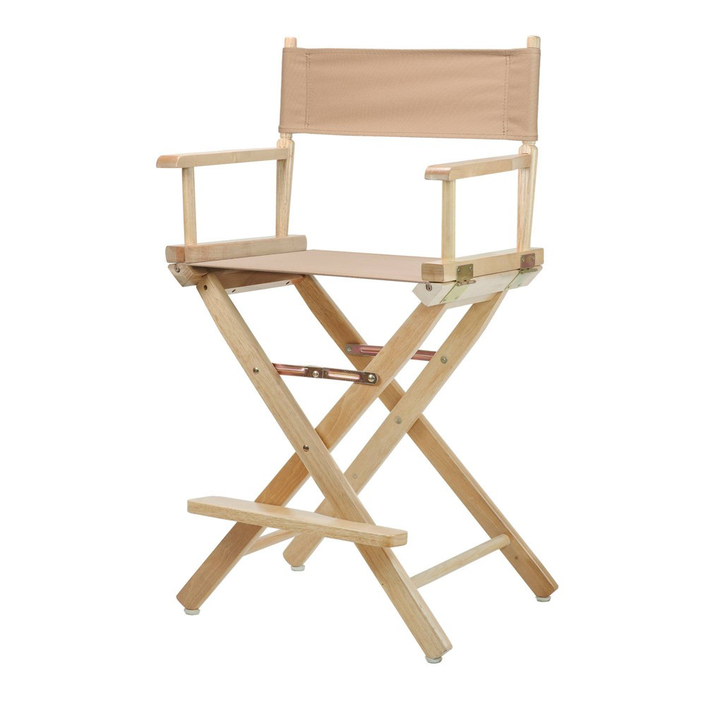 Director S Chair Counter Height Canvas Tan Natural Flora Homes