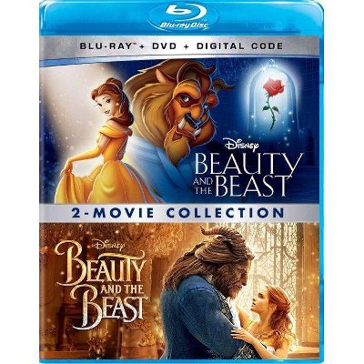 Beauty & The Beast Animated + Live Action: 2-Movie collection (Blu-ray + DVD + Digital)