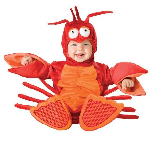 InCharacter Costumes Lil Red Lobster Jumpsuit Designer Costume Child Toddler - image 1 of 1