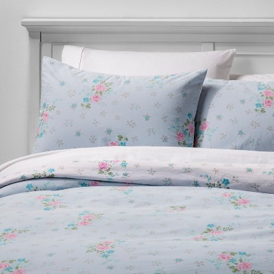 King Lily Rose Duvet Cover Set Blue - Simply Shabby Chic®